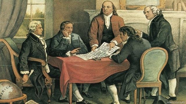The unanimous declaration of the thirteen United States of America. (Declaración de Independencia de los Estados Unidos).