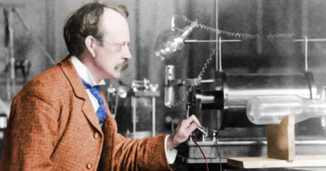 J.J. Thomson wins a Nobel Prize in Physics