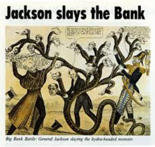 Andrew Jackson Vetoed the Re-Charter of the Second Bank of the United States