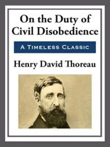 Henry David Thoreau Published Civil Disobedience