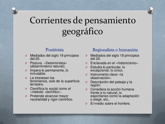 Corrientes geográficas