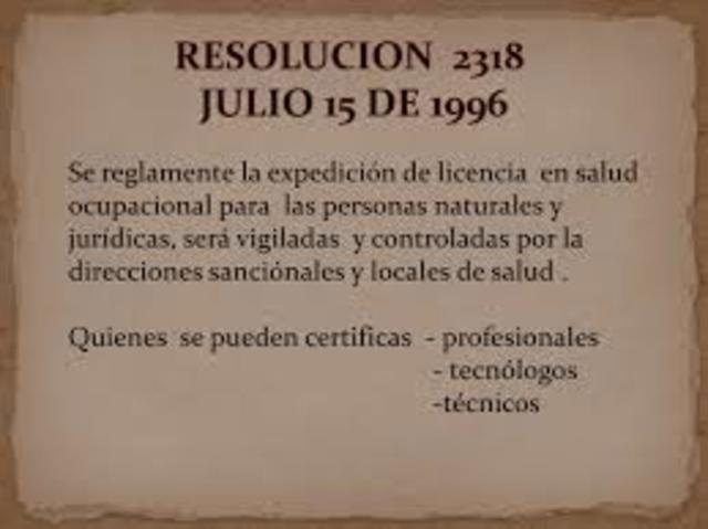 1996 licencias