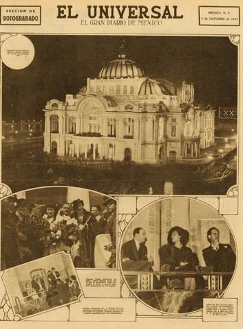 Es inaugurado el Palacio de Bellas Artes [Cultural]
