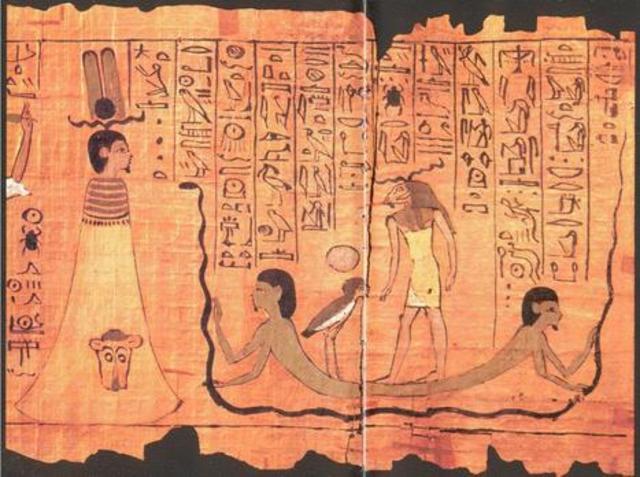 los egipcios descubrieron un material  para escribir llamado papiro