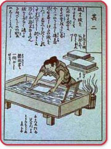 se descubrió  el papel en china