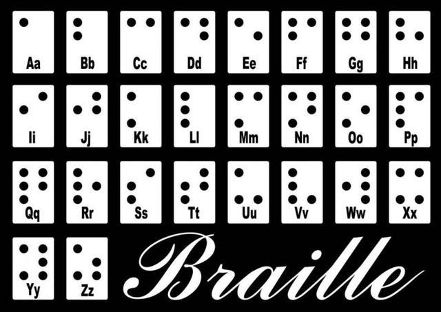 Louis Braille crea un sistema de puntos y relieves para que personas ciegas pudieran leer y escribir