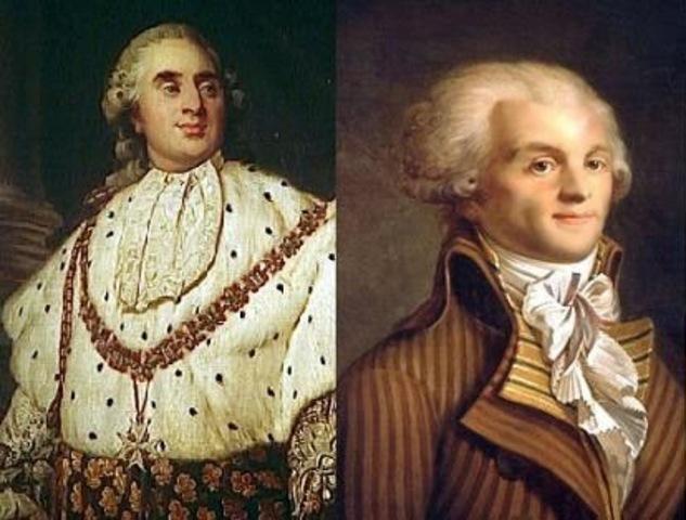 Robespierre y Luis XVI, primer encuentro