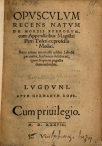 """""""Opusculum de morbis puerorum"""""""