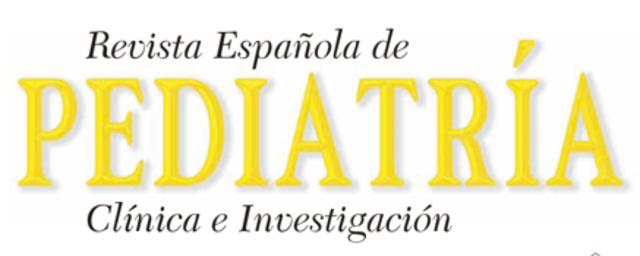 Publicación de la revista de Pediatría Española