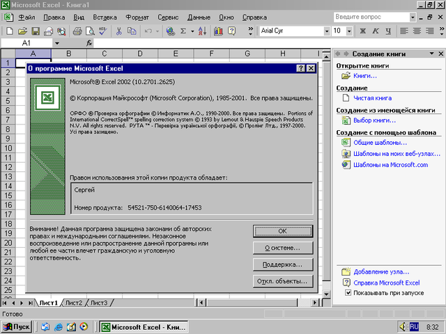 Excel 2002 (10) -  Microsoft Office XP