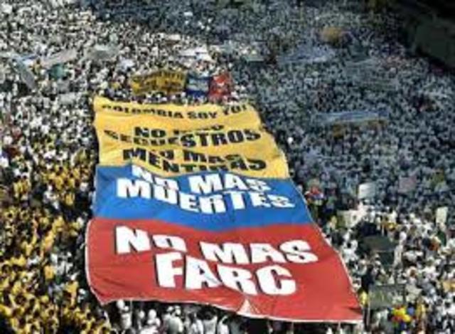 Un millón de voces contra las FARC 8 febrero 2008