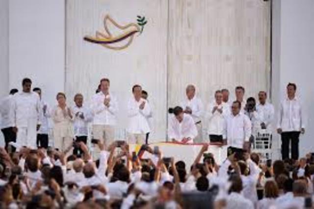 Acuerdo de paz con las FARC en Cartagena