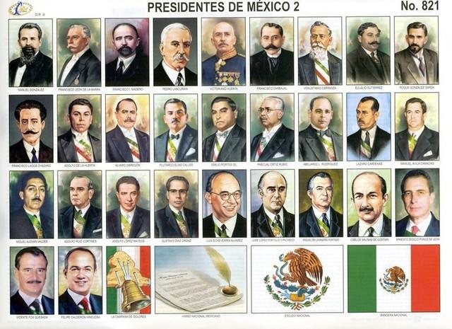 Los Presidentes de México en el siglo XX