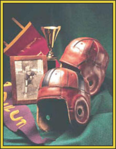 George Barclay Creates Football Helmet Model