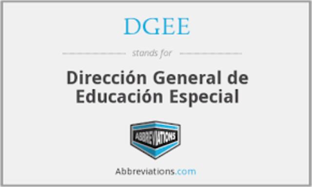 Dirección General de Educación Especial
