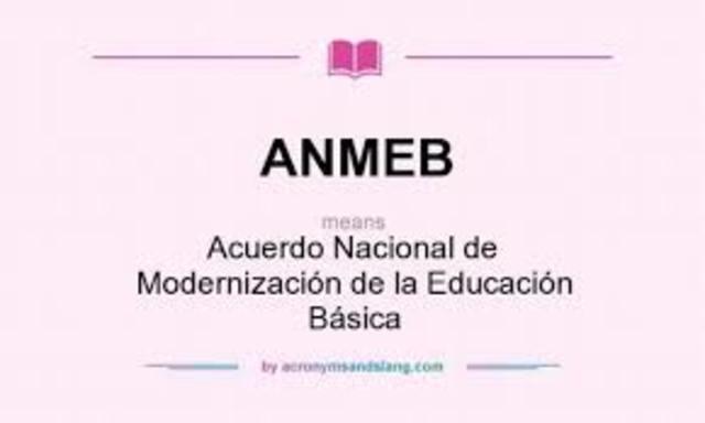 Acuerdo Nacional para la Modernización de la Educación Básica