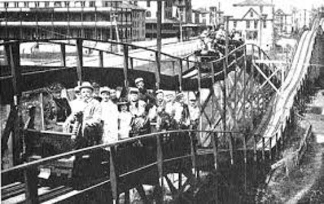 The first roller coaster