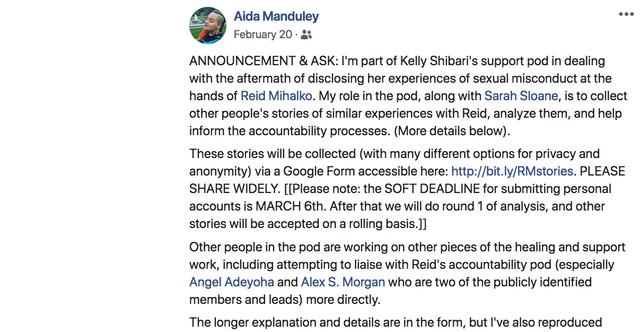 Aida Manduley Announces Kelly's Support Pod
