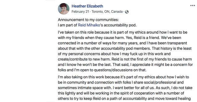 Heather Elizabeth Joins Reid's Pod