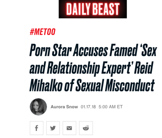 Aurora Snow's The Daily Beast article drops