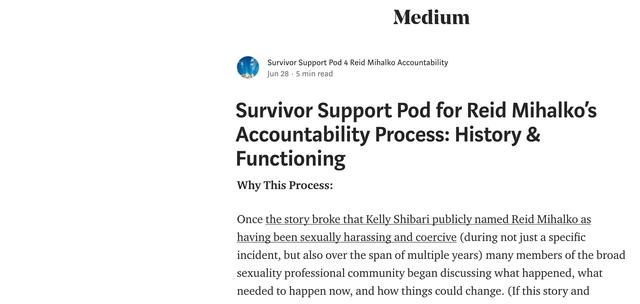 Survivor Support Pod Publishes 1st Post