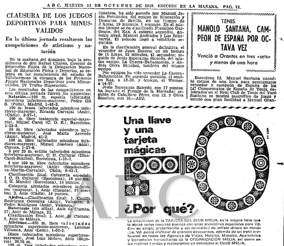 Juegos Nacionales para minusválidos (Madrid)