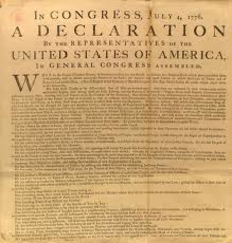 Declaration of Independence Issued