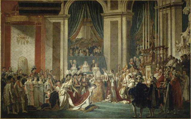 Sacre de Napoléon à Notre Dame avec le Pape