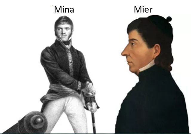Xavier Mina y fray Servando Teresa de Mier viajan a América