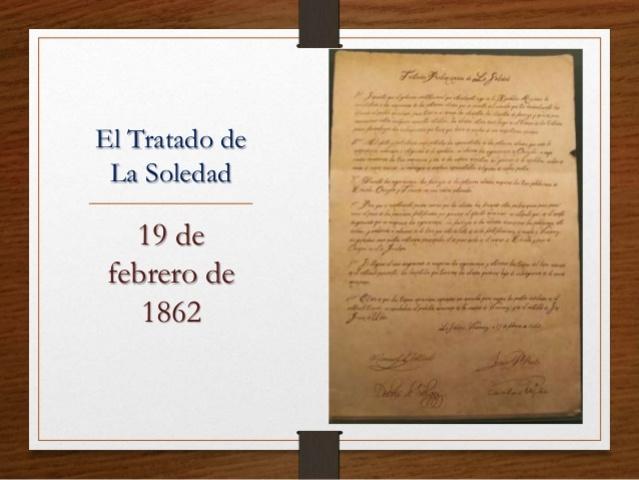 Se firman los tratados de la soledad: Juárez vuelve a pagar la deuda externa