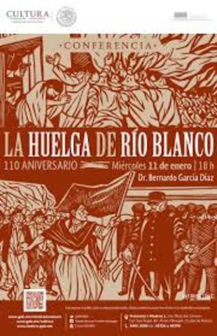 Estalla la huelga de Río Blanco