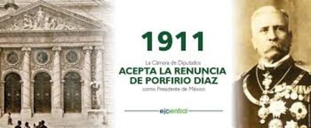 Renuncia Díaz a la presidencia