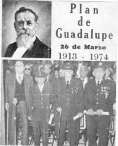 Venustiano Carranza proclama el plan de Guadalupe