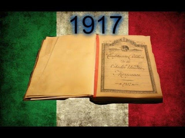 Se promulga la constitución Mexicana de 1917