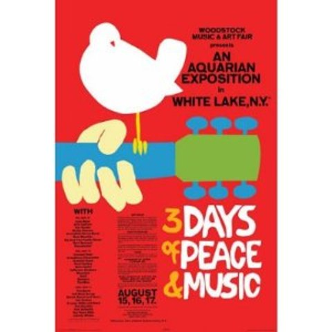 500,000 gather at Woodstock for three days, changed the world