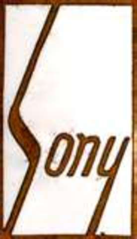 Decision on the Sony logo for on Totsuko products