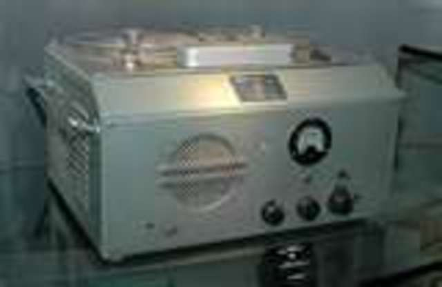 Sony's first magnetic tape Recorder
