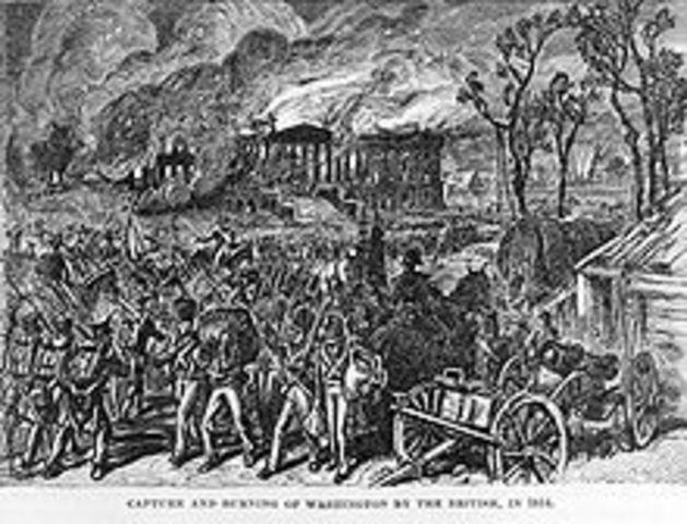 Washington D.C. burned