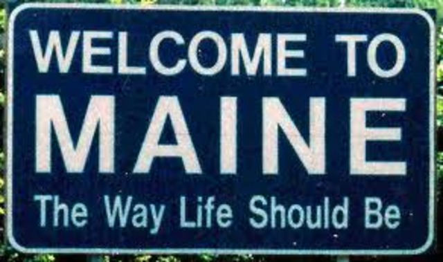 Maine becomes a state