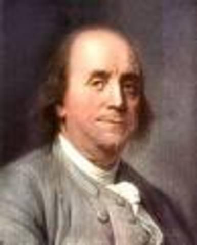 Benjamin Franklin- kite and key experiment