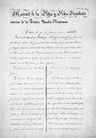 1848 Treaty of Guadalupe Hidalgo