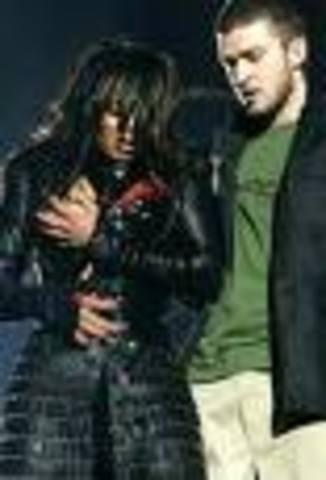 Janet Jackson wardrobe malfunction at XXXVII Super Bowl Halftime Show