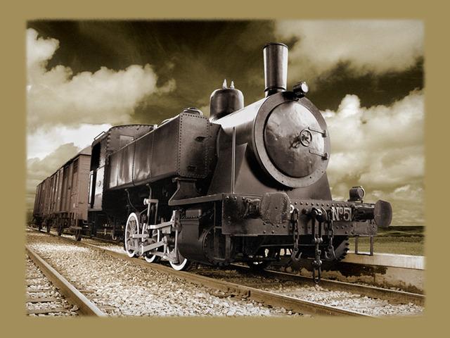 invento de la locomotora de vapor