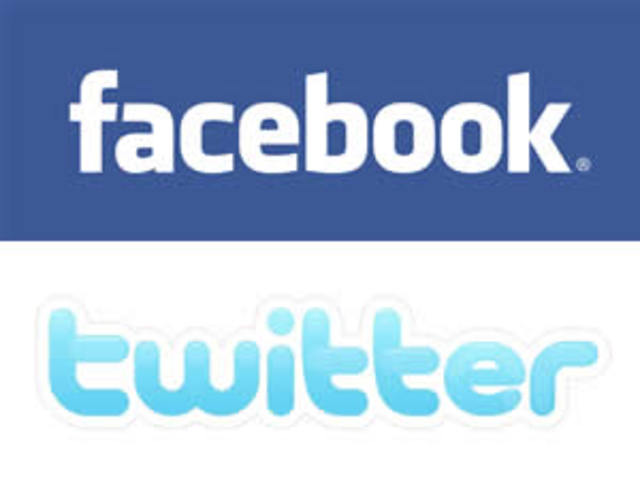 Fcebook and Twitter