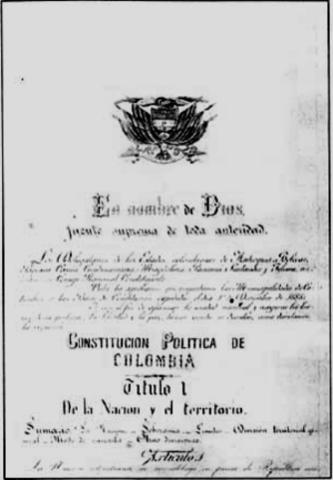 Constutucion de 1886