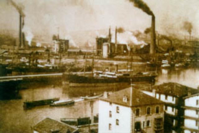 Creacion de los Altos hornos de Vizcaya