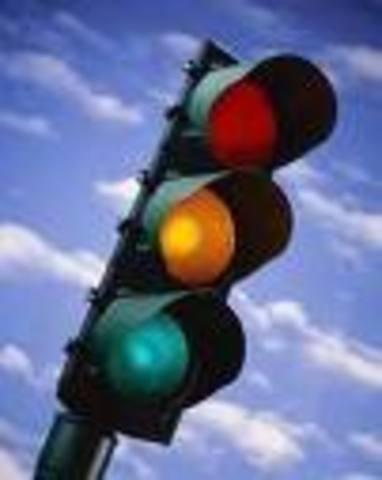 J P Knight invents traffic lights.