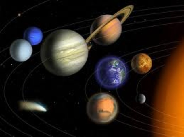 Copernicus discovers that the Earth and the other planets revolve around the Sun