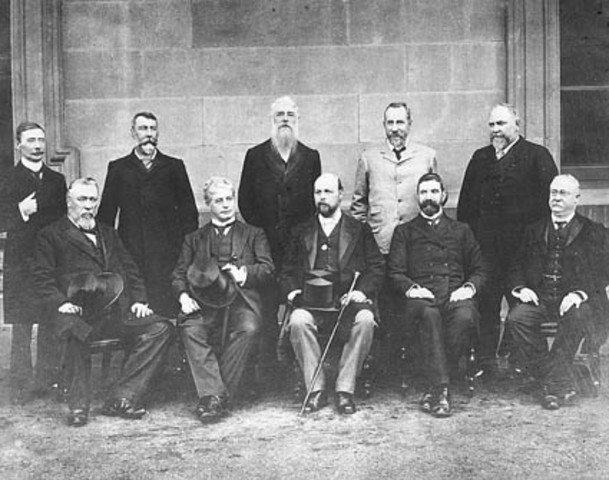 Barton is commissioned to form the first ministry