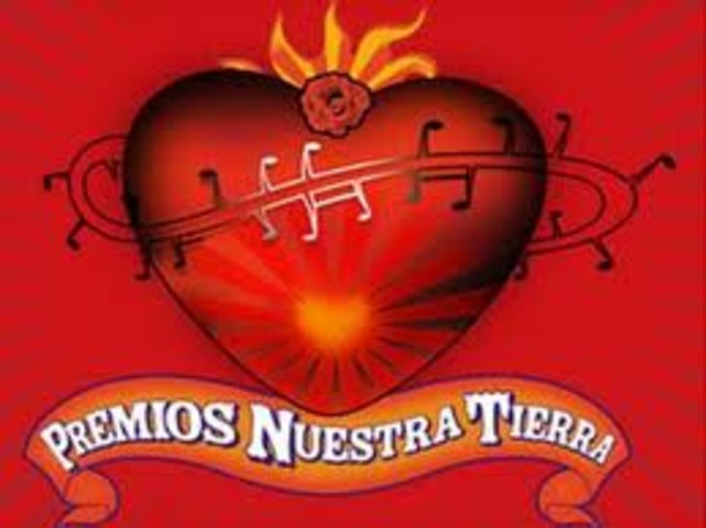"NOMINATED TO THE ""PREMIOS NUESTRA TIERRA"""